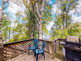 Lakefront home w/private beach & gorgeous island/peninsula location - dogs OK!