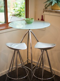 Cafe table in kitchen area