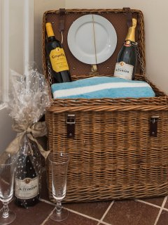 Take the picnic basket to the beach (contents not included... sorry!)