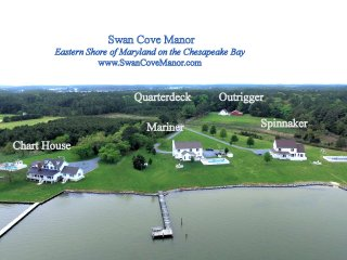 Weddings / Family Reunions - 22 ac. Chesapeake Waterfront Estate - Sleeps 48+