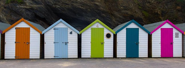 Beach huts near by  - Nigel Maitland photography