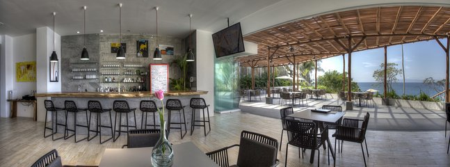The restaurant is a great gathering place to enjoy the delicious menu by chef Alex.