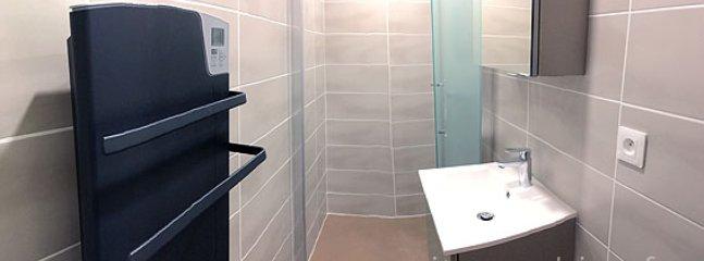 Salle de bain avec cabine de douche à l'italienne rénovée en 2017