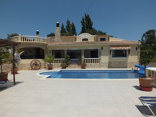 secluded 4 bedroomed villa , country and sea views, not overloked.