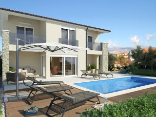 Modern Villa Goga with heated Pool and BBQ