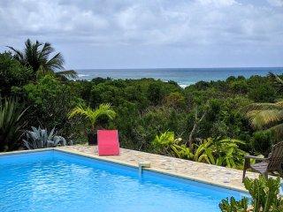 Villa vue mer, accès plage, piscine (4ch, 3 sdb)