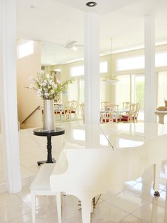 Baby Grand Piano in Foyer