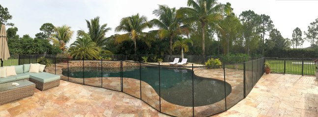 Pool fenced