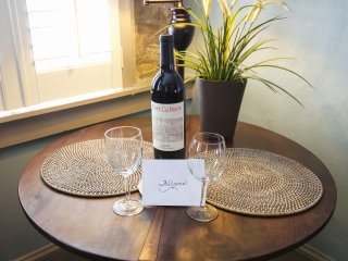 We welcome our Guests with a complimentary Bottle of Wine!