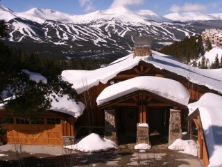 Million Dollar Views with this lodge style home a short walk to shuttle!