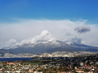 These views are seen from your balcony when Mt.Wellington is snow capped.