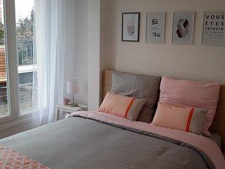Appartement 70 m², 6 pers. proche centre ville DIJON et FACS. Grande terrasse.