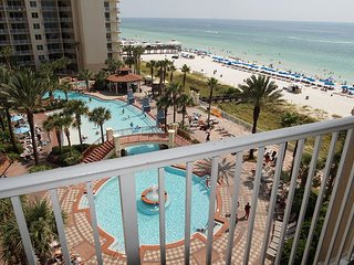 6th Floor - Beach Front Luxury!  Shores of Panama - Best Pool in Town!!