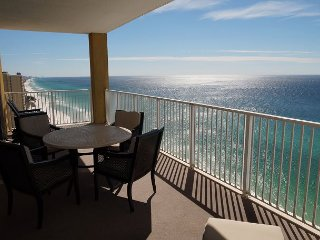 Gulf Front TOP FLOOR END UNIT! Quite West End Near Pier Park! FREE BEACH SRVC