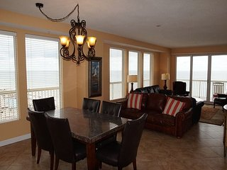 Beach Front, End Unit on 6th Floor with With Large Wrap Around Patio!  3 BR/2