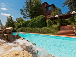 Villa Gicaber, located in Chianni, panoramic views on the valley,  private pool