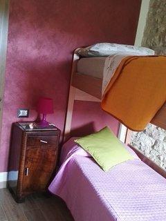 Cameretta con letto a castello