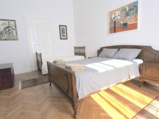 Room with Oak Bed in Stunning Spacious Apartment