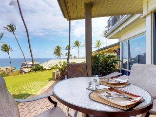 Ground floor, oceanview condo w/ lanai, resort pool, and beach access