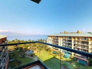 High-end resort condo w/ shared pool, hot tub, ocean views, & beach