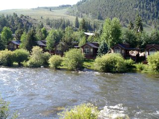 Modern 1 BR with Sleeping Loft Cabin on the Taylor River at Three Rivers Resort in Almont (#59)