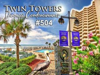 Twin Towers Condominium - Direct Oceanfront Unit - 3BR/3BA - #504