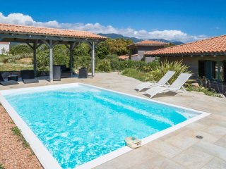 Beautiful villa ' Les Figuiers' with pool between sea and mountain