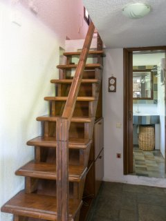 Stairs to sleeping nook