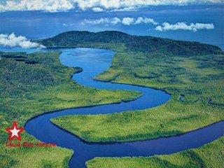 Location of Casa Rio Sierpe located in Primary rain forest along the Rio Sierpe