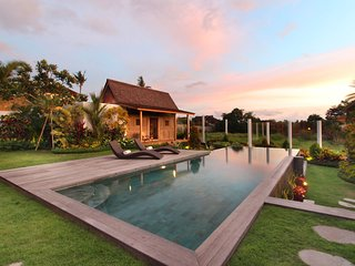 #C16 5mn Central Seminyak Rice field view villa
