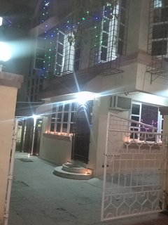 Front side open compound area lit up for Diwali 2017
