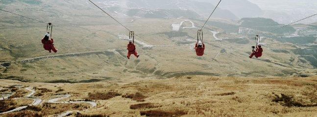 Zip World Titan.. the fastest zip wire in Europe. a short walk from the cottage!