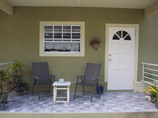 Enjoy a cup on the front patio