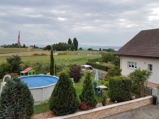 Studio in Bevaix, with private pool, enclosed garden and WiFi