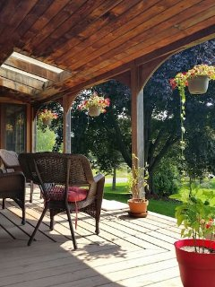 Porch with views of Mt Greylock