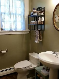 Bathroom for guest use on first floor