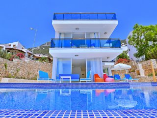 NEW AGE Luxury villa GALA with sea view, private pool villa for rent in Kalkan