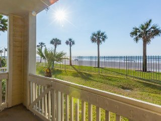 Oceanfront condo w/ shared pool/hot tub & views - feet from the beach!