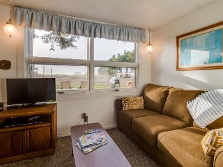 Dog-friendly suite features stunning oceanfront views & beach access!