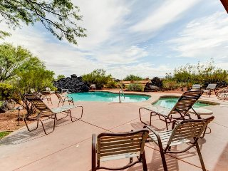 Bright, lovely home w/ patio, balcony, mountain views & shared pool/hot tub!