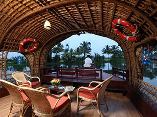 Boat House at Alleppey Kerala  India