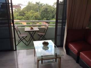 high end 2 bedrooms apartment night market, opposite Wat Chaimonkol monastery