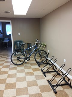 Secure indoor storage for your bicycles and other gear.