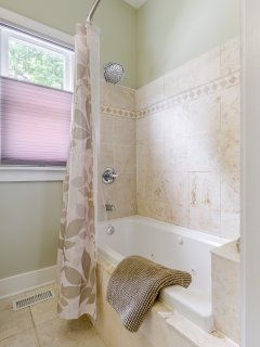 Spa bath and shower.
