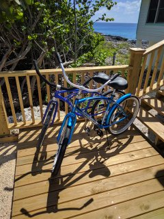 Cruiser style bikes come with the house
