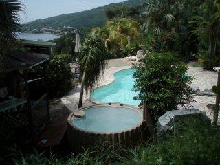 kazAnne, Studio2-4 pers, vue Mer Caraibes, acces gratuit piscine et jacuzzi