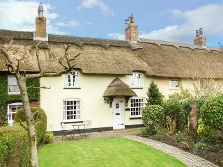 2 CHURCH ROW, thatched cottage, character features, overlooking village green in