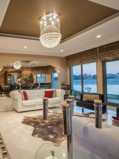 Overall picture of the Living and Dining room with a sea view
