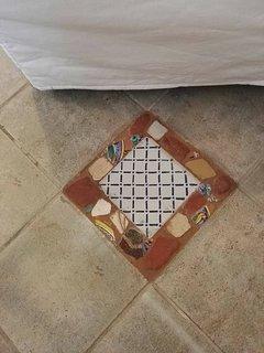 particolare di mattonella pavimento