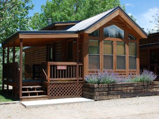 Cozy 'Modular' Style 1 BR with Sleeping Loft Cabin at Three Rivers Resort in Almont (#37)
